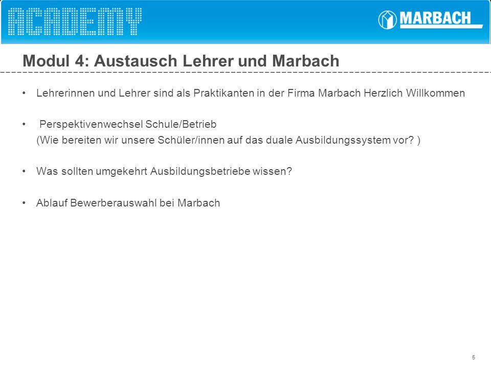 Modul 4: Austausch Lehrer und Marbach