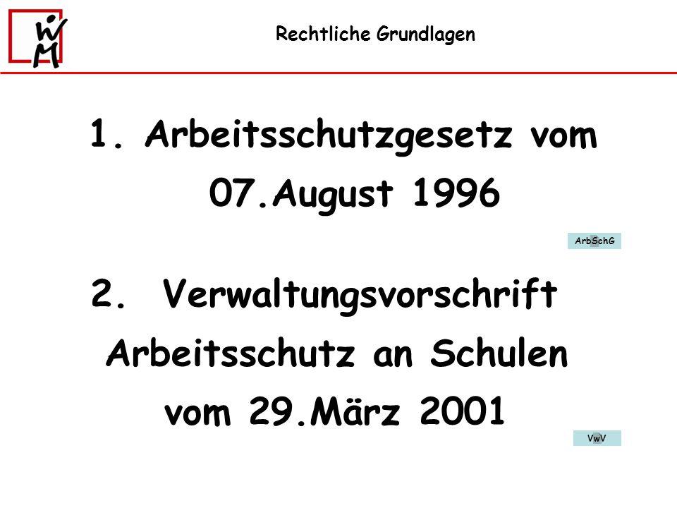 Arbeitsschutzgesetz vom 07.August 1996
