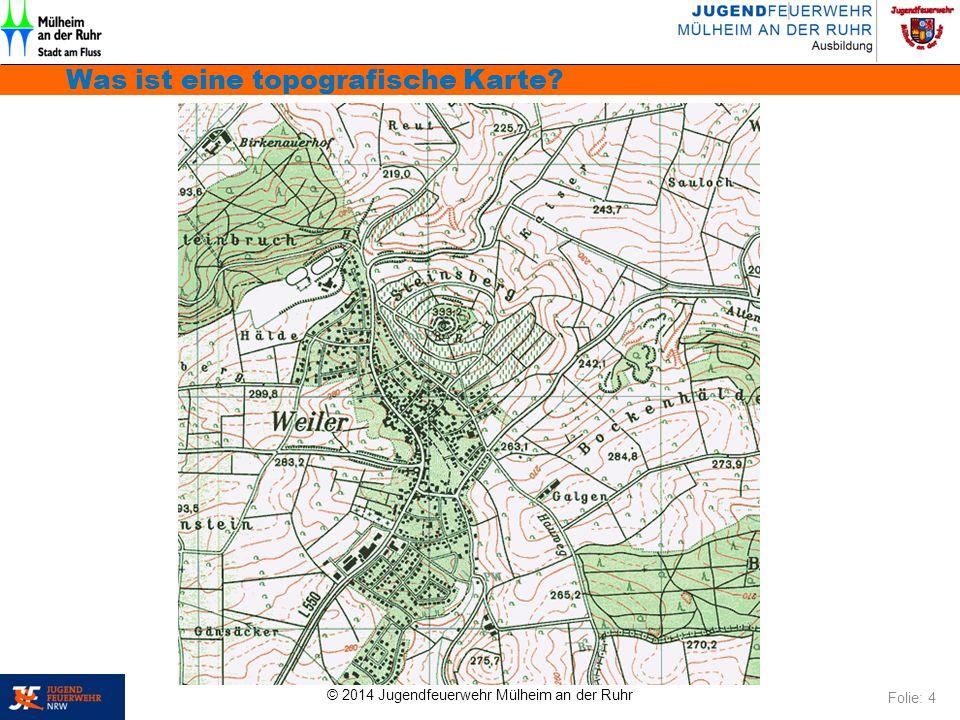 Was ist eine topografische Karte