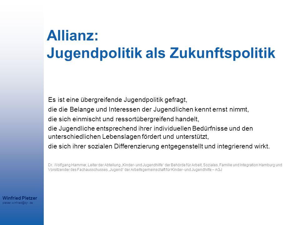 Allianz: Jugendpolitik als Zukunftspolitik