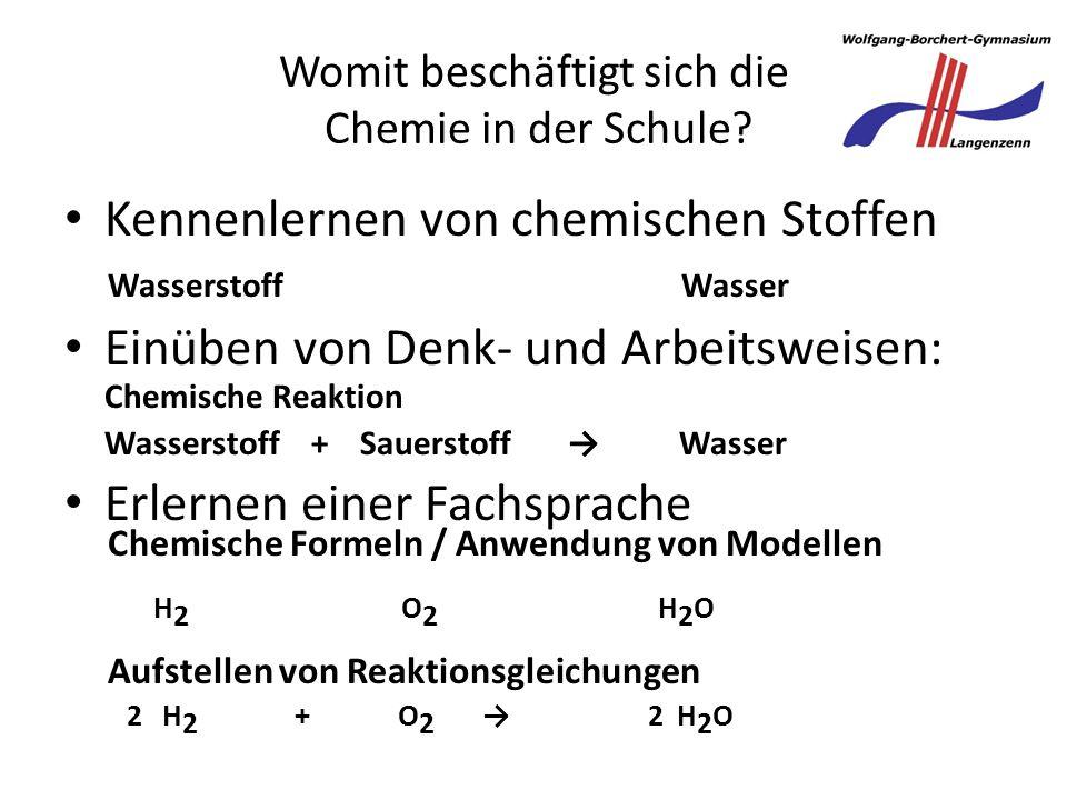 Womit beschäftigt sich die Chemie in der Schule
