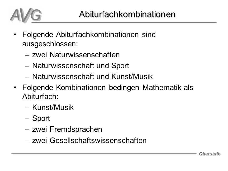 Abiturfachkombinationen