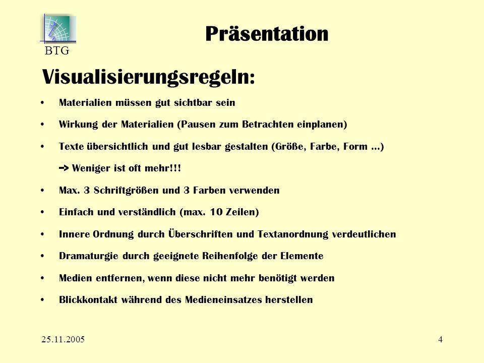 Präsentationen im Unterricht