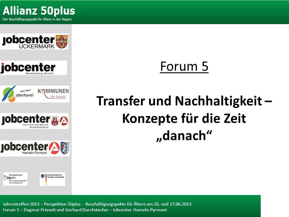 """Forum 5 Transfer und Nachhaltigkeit – Konzepte für die Zeit """"danach"""