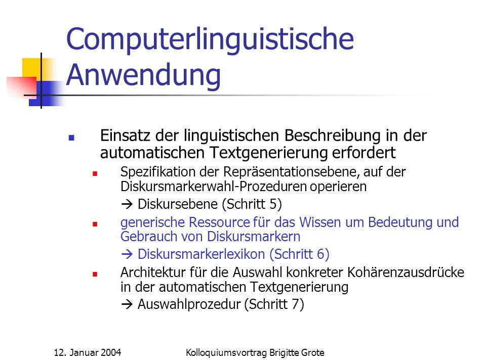 Computerlinguistische Anwendung