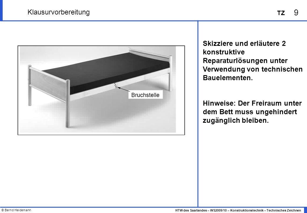 Klausurvorbereitung Skizziere und erläutere 2 konstruktive Reparaturlösungen unter Verwendung von technischen.