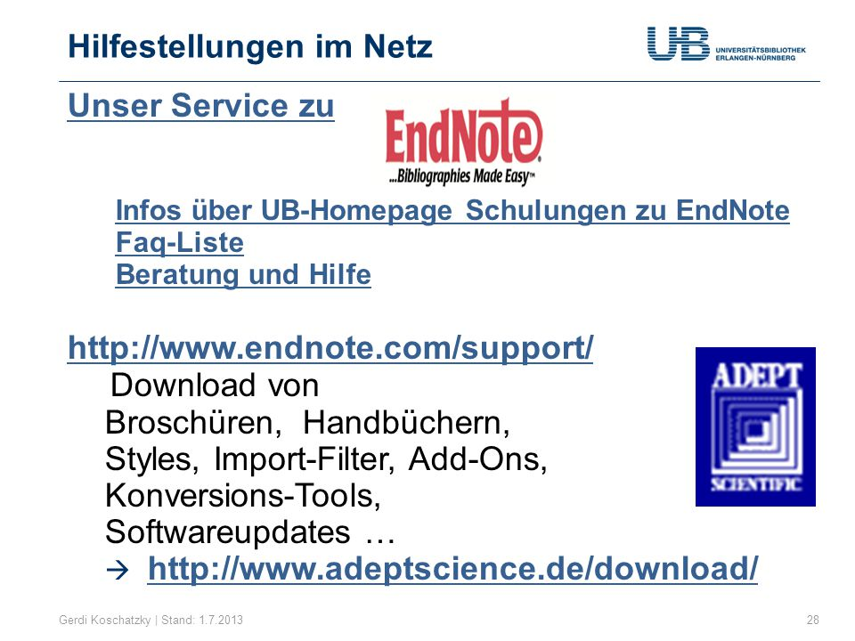 Hilfestellungen im Netz
