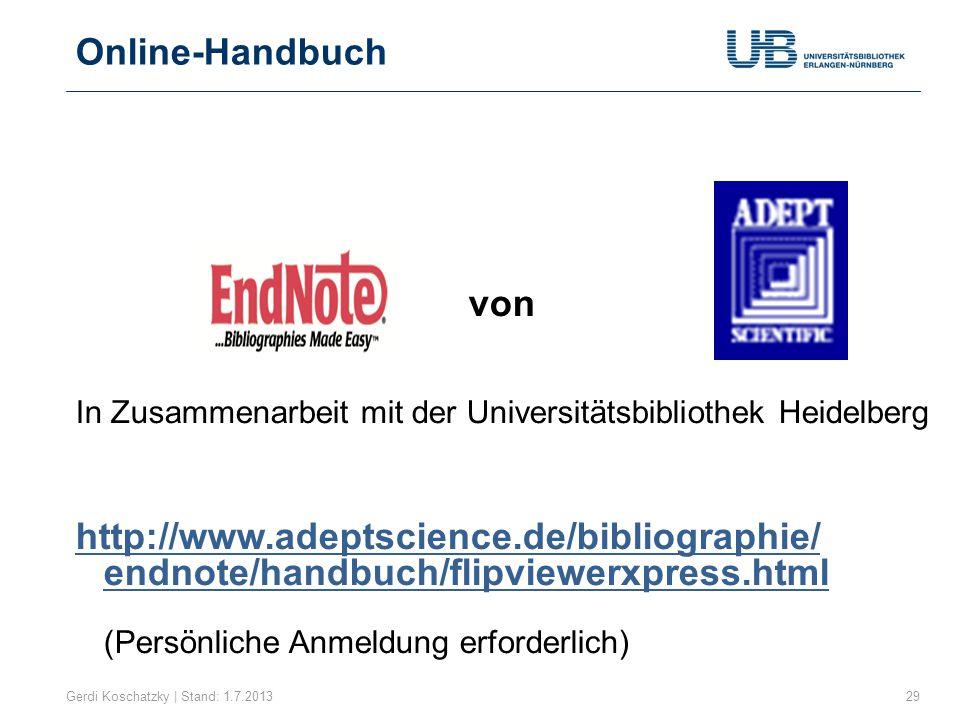 Online-Handbuch von. In Zusammenarbeit mit der Universitätsbibliothek Heidelberg.