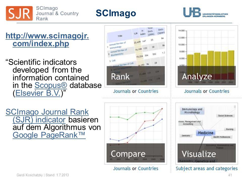 SCImago http://www.scimagojr. com/index.php