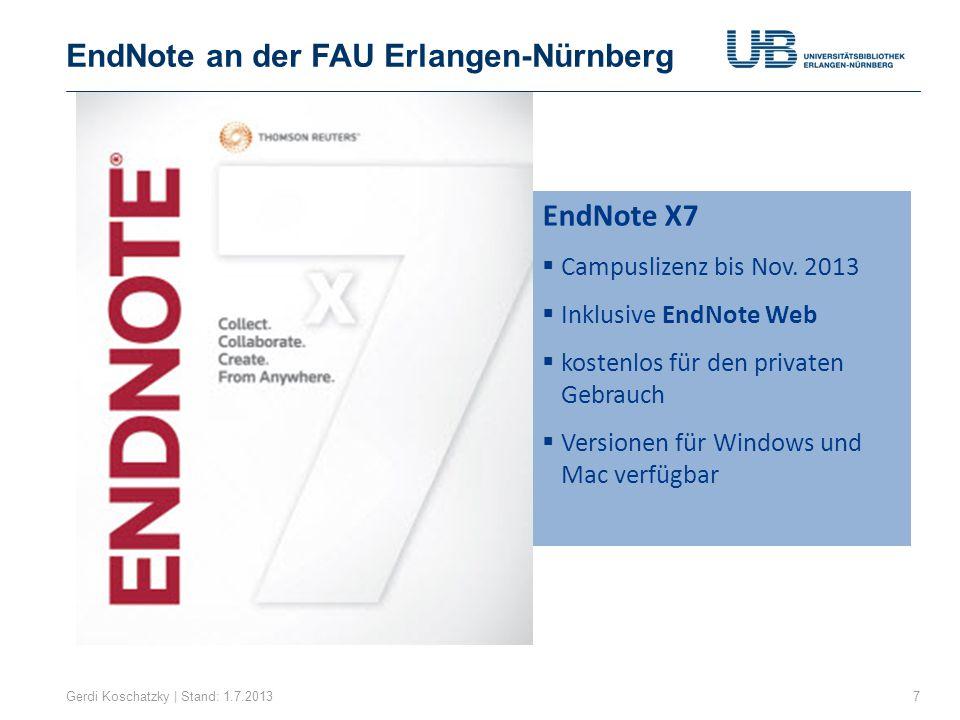 EndNote an der FAU Erlangen-Nürnberg