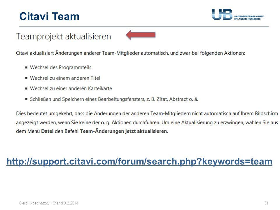 Citavi Team http://support.citavi.com/forum/search.php keywords=team