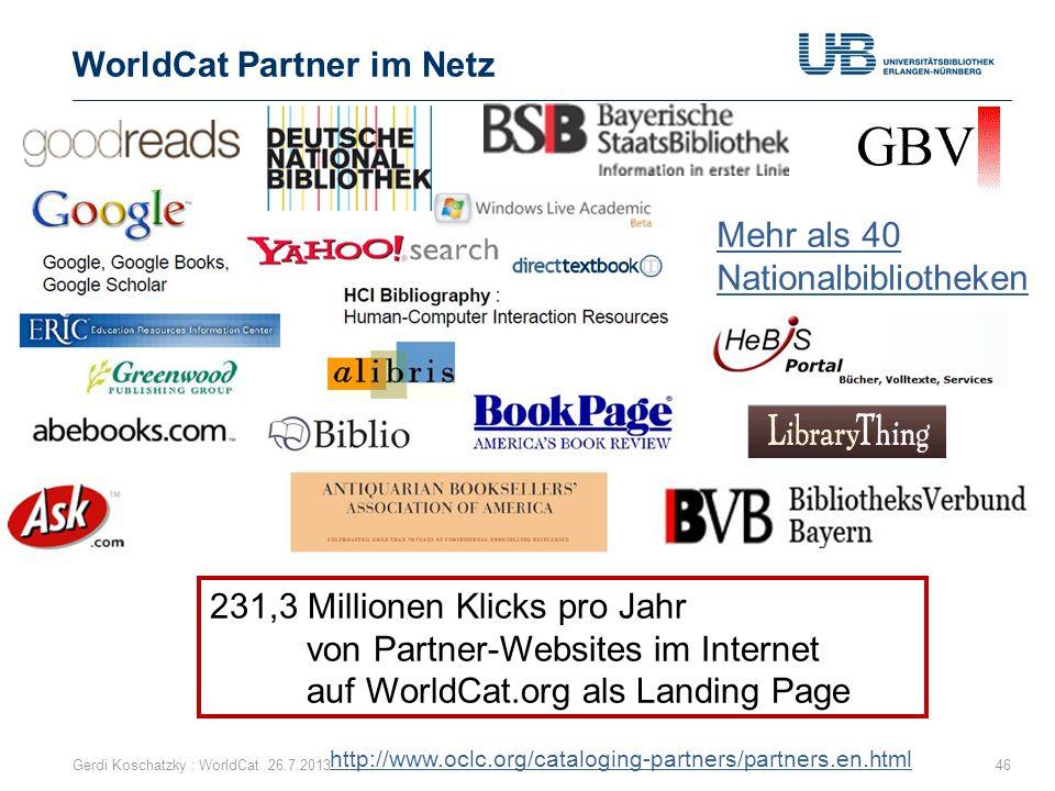 WorldCat Partner im Netz