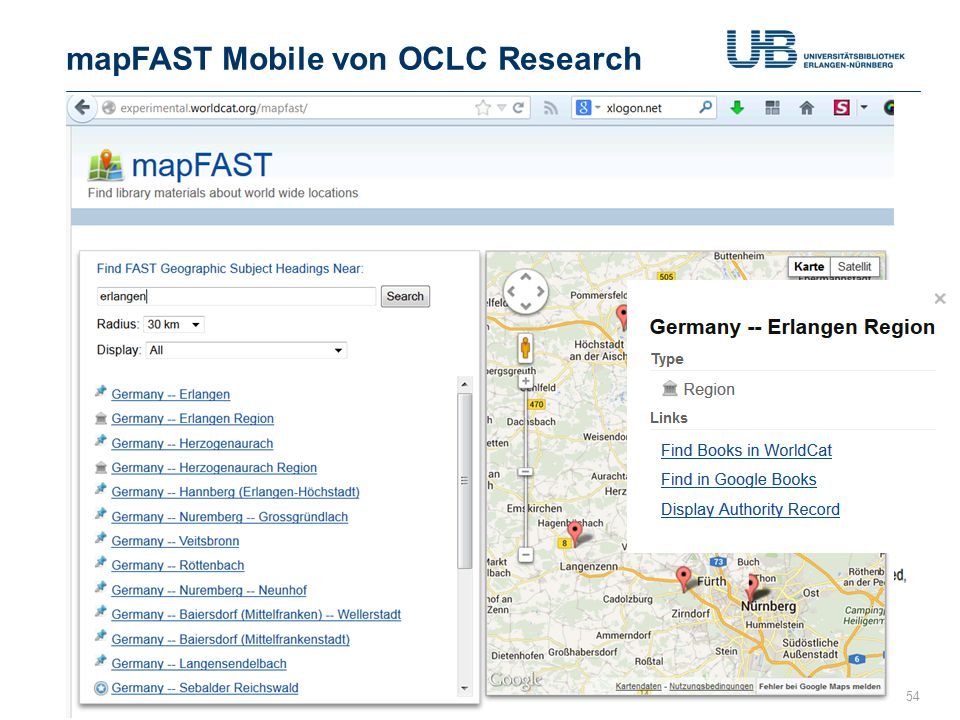 mapFAST Mobile von OCLC Research