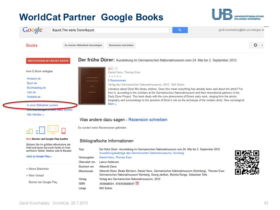 WorldCat Partner Google Books