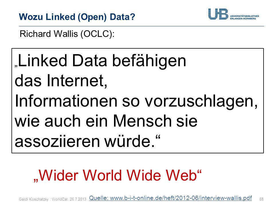Wozu Linked (Open) Data