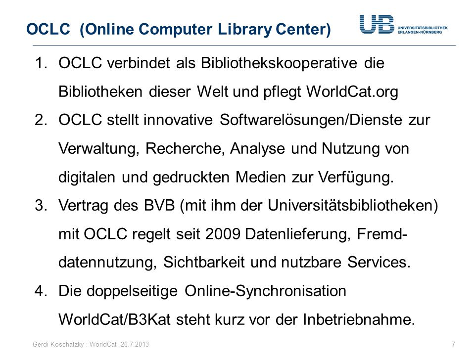 OCLC (Online Computer Library Center)