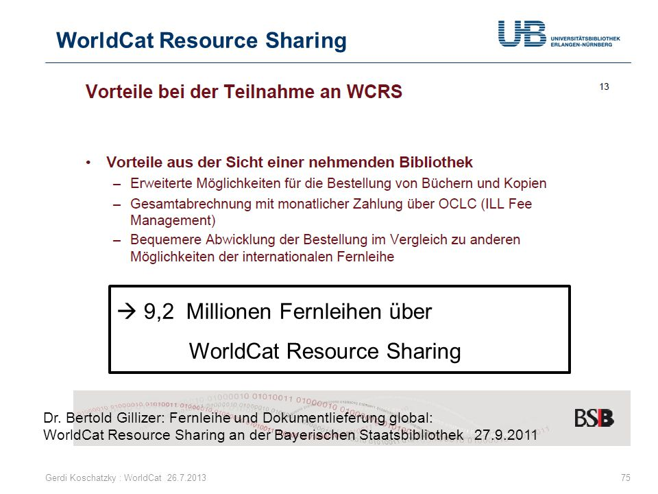 WorldCat Resource Sharing