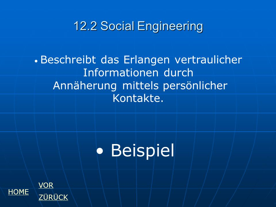 Beispiel 12.2 Social Engineering