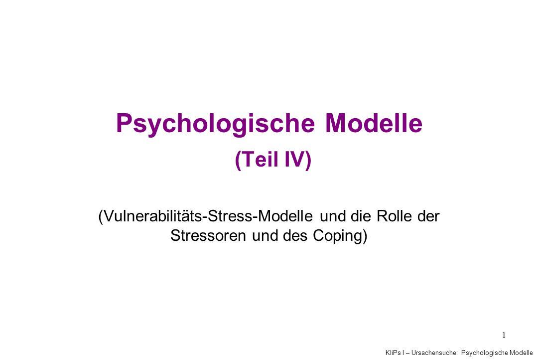 Psychologische Modelle (Teil IV)