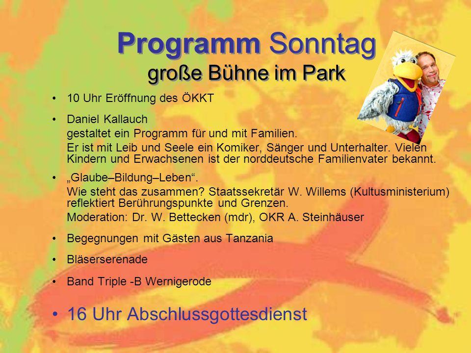 Programm Sonntag große Bühne im Park
