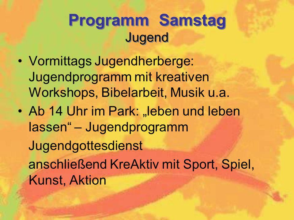 Programm Samstag Jugend