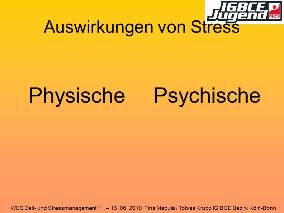 Auswirkungen von Stress