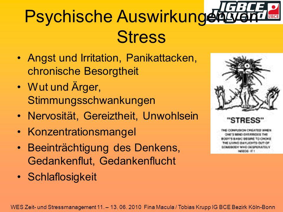 Psychische Auswirkungen von Stress