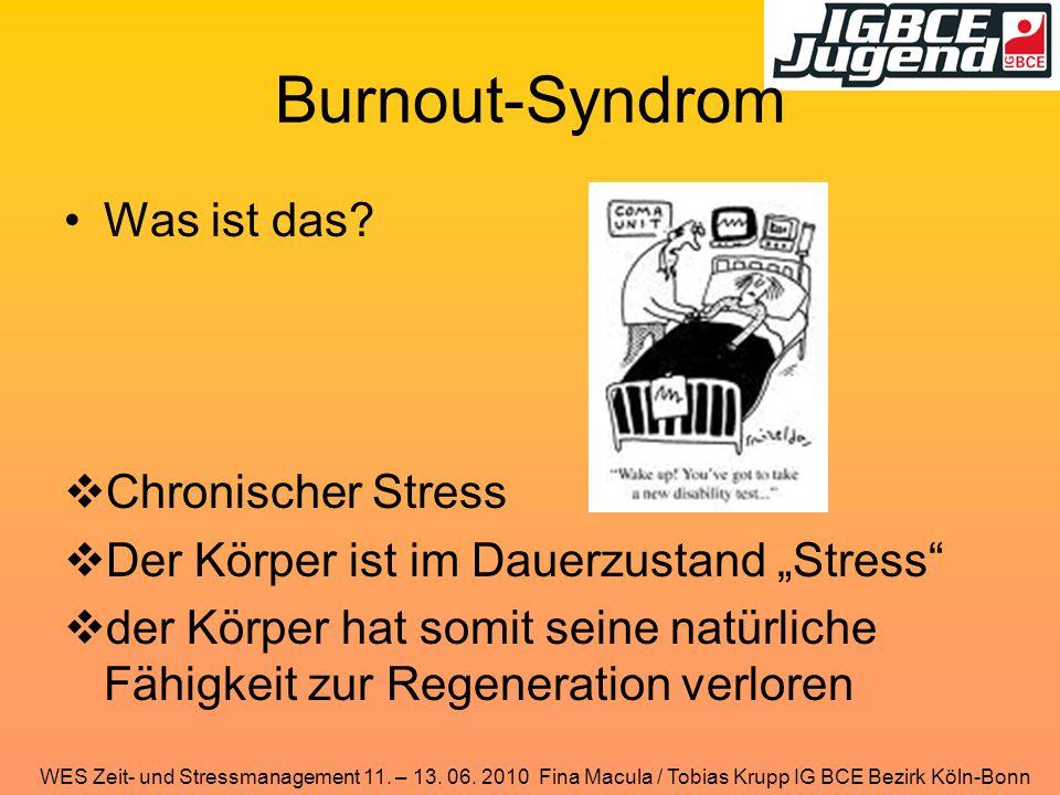 Burnout-Syndrom Was ist das Chronischer Stress