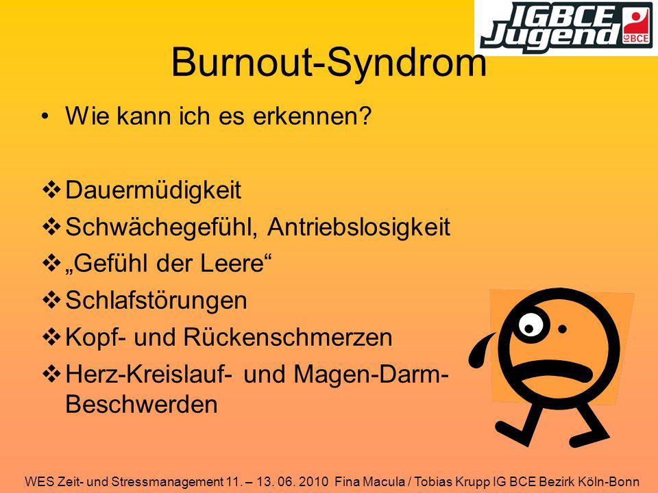 Burnout-Syndrom Wie kann ich es erkennen Dauermüdigkeit
