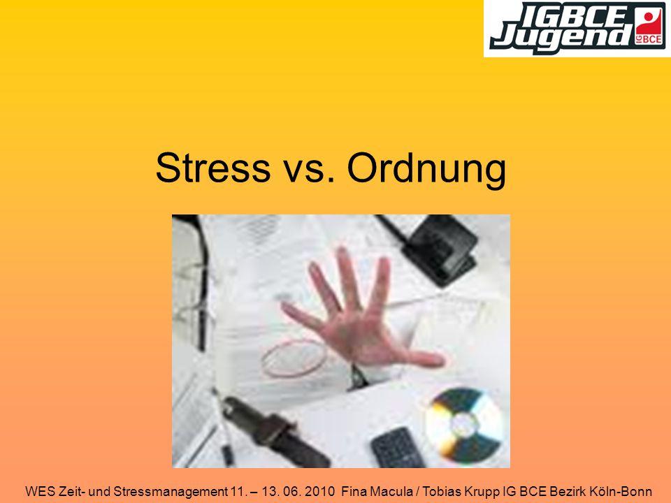 Stress vs. Ordnung