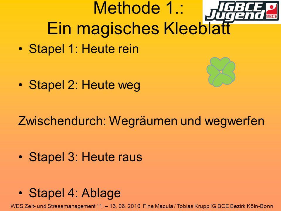 Methode 1.: Ein magisches Kleeblatt