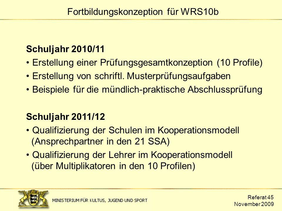 Fortbildungskonzeption für WRS10b