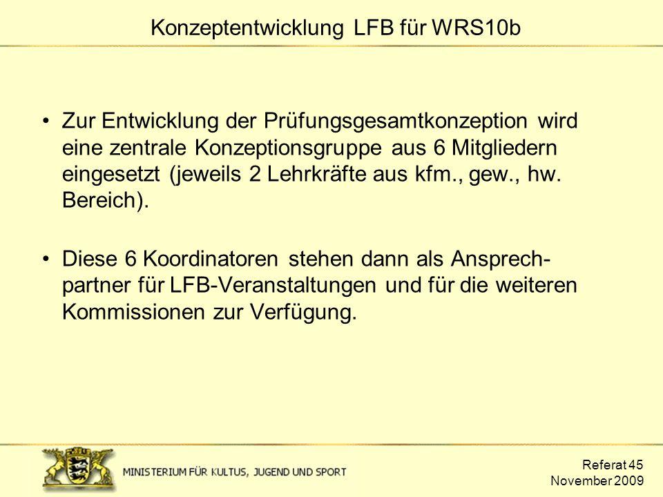 Konzeptentwicklung LFB für WRS10b