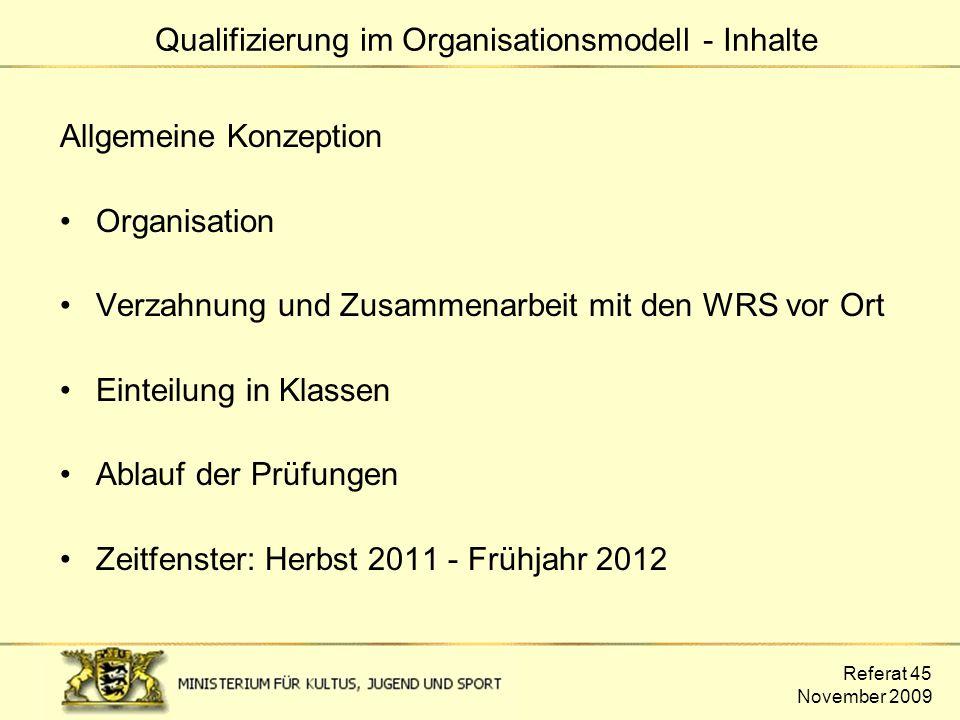 Qualifizierung im Organisationsmodell - Inhalte
