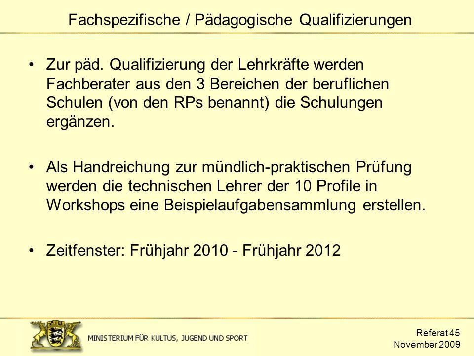 Fachspezifische / Pädagogische Qualifizierungen
