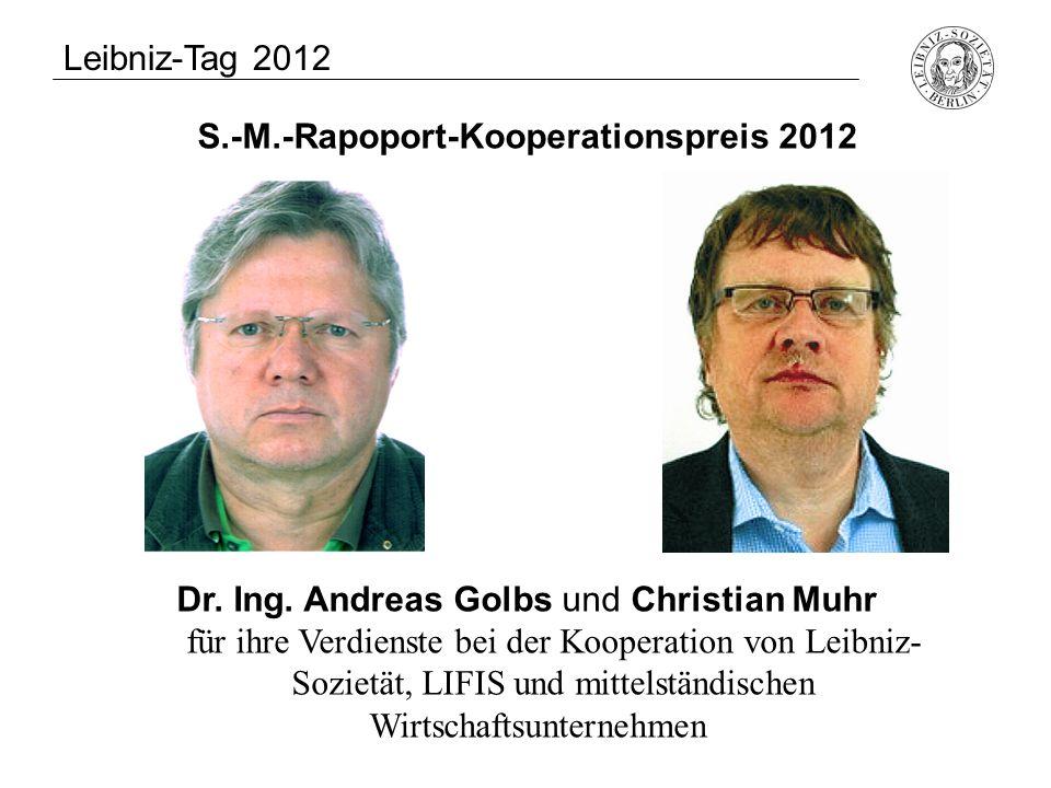 S.-M.-Rapoport-Kooperationspreis 2012