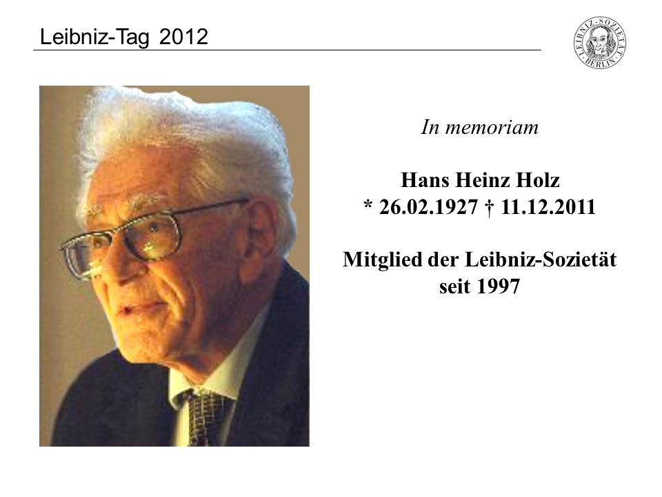 Mitglied der Leibniz-Sozietät seit 1997
