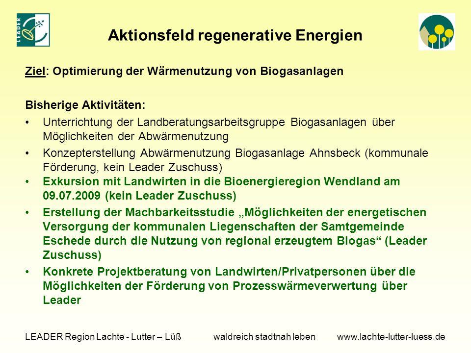 Aktionsfeld regenerative Energien