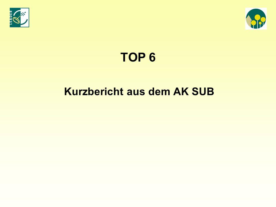 Kurzbericht aus dem AK SUB