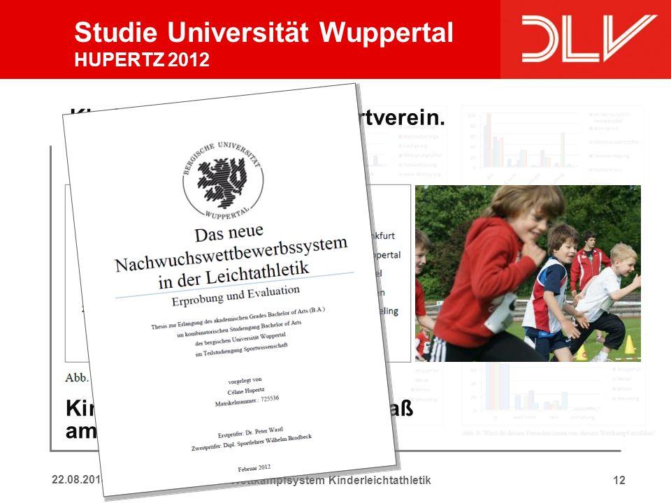 Studie Universität Wuppertal Rückmeldungen Kinder