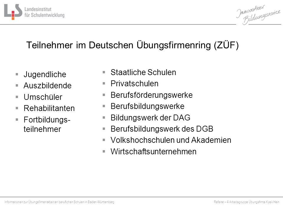 Teilnehmer im Deutschen Übungsfirmenring (ZÜF)