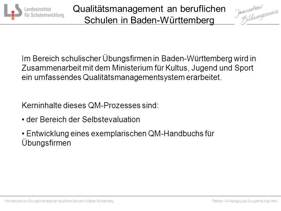 Qualitätsmanagement an beruflichen Schulen in Baden-Württemberg