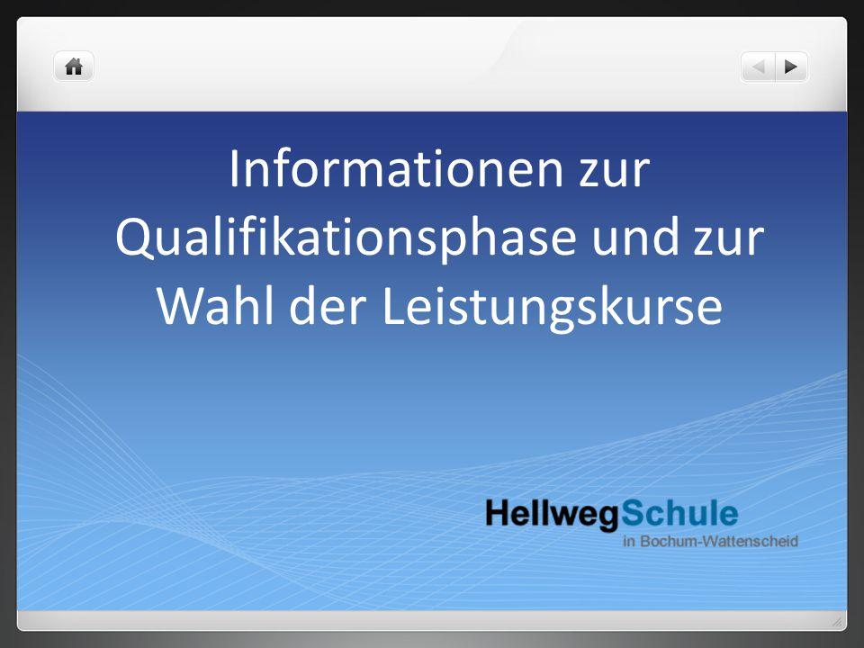 Informationen zur Qualifikationsphase und zur Wahl der Leistungskurse