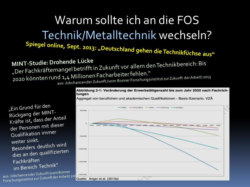 """Spiegel online, Sept. 2013: """"Deutschland gehen die Technikfüchse aus"""