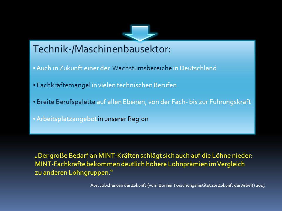 Technik-/Maschinenbausektor: