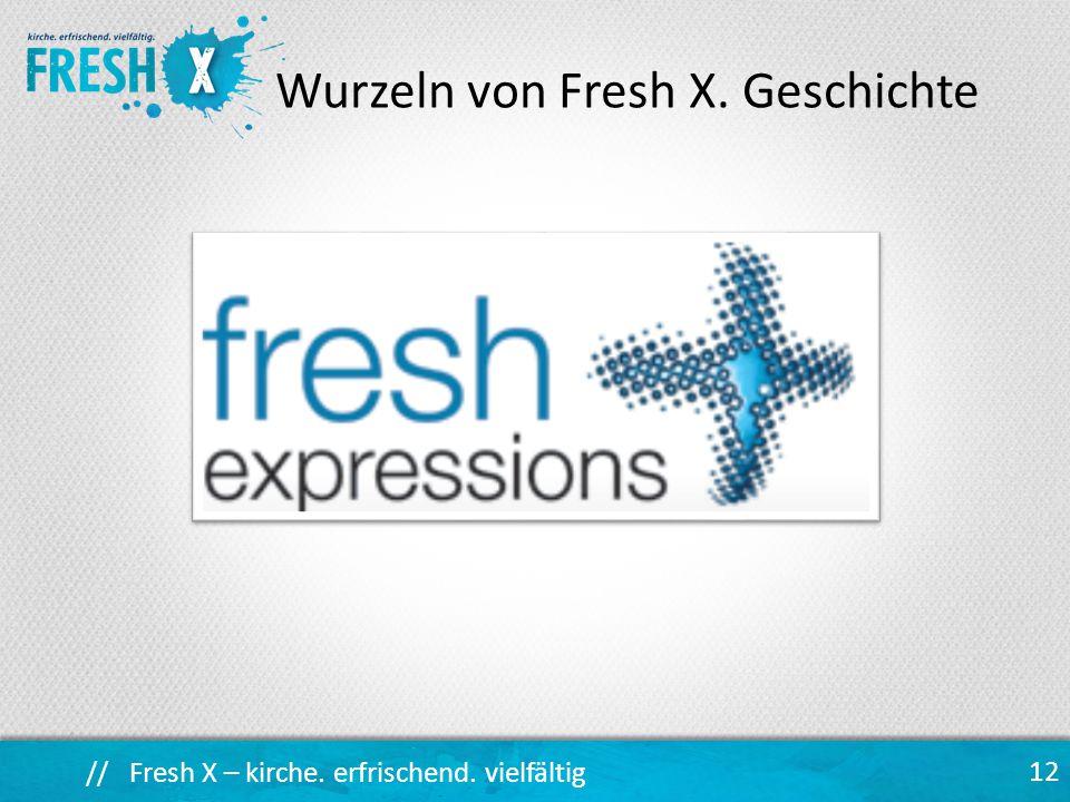 Wurzeln von Fresh X. Geschichte