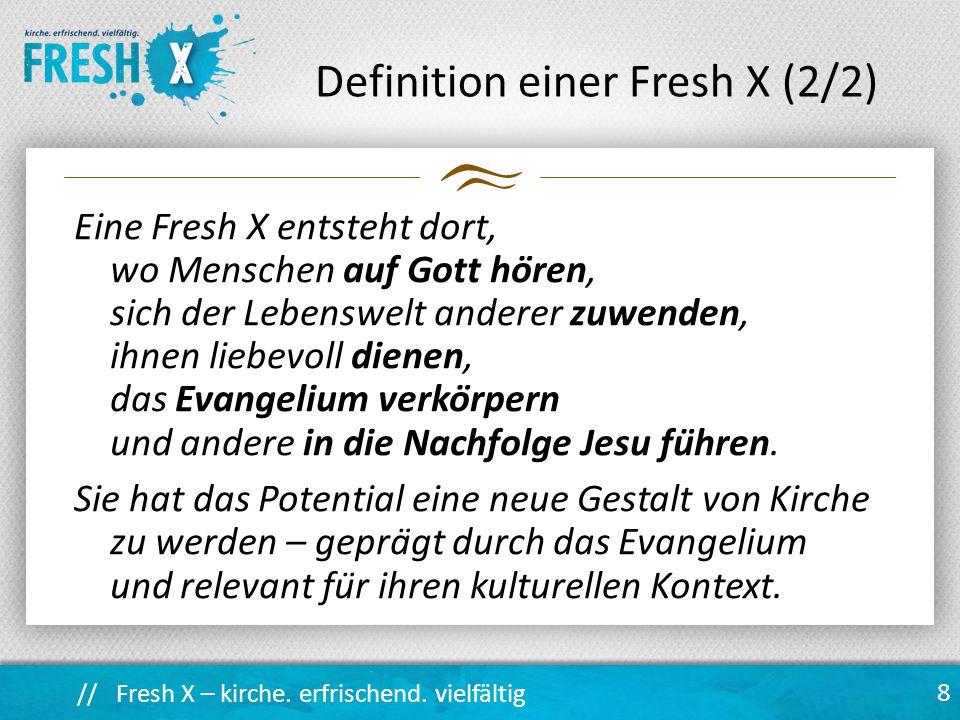 Definition einer Fresh X (2/2)