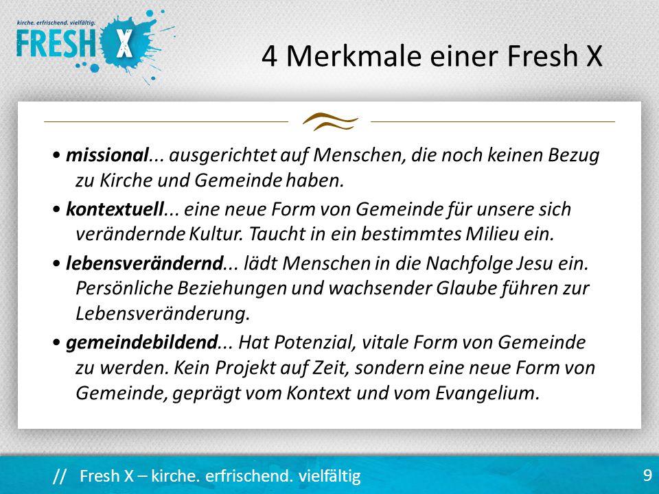 4 Merkmale einer Fresh X
