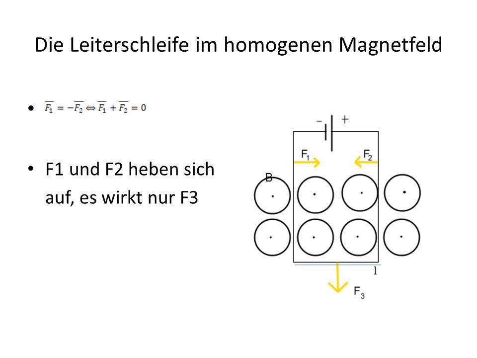 Die Leiterschleife im homogenen Magnetfeld