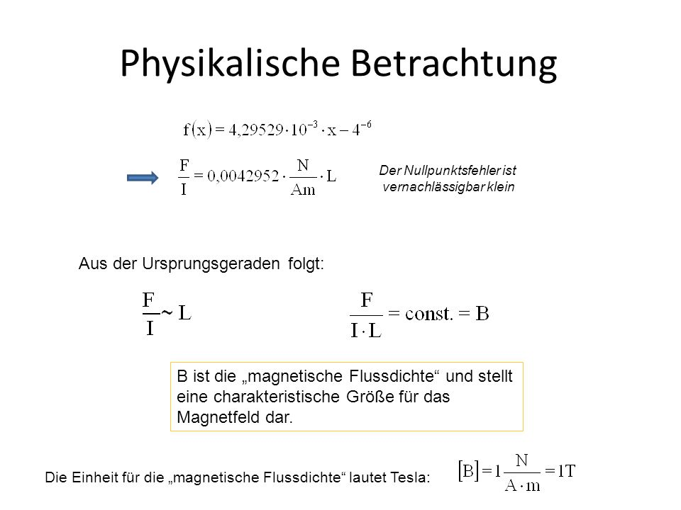 Physikalische Betrachtung